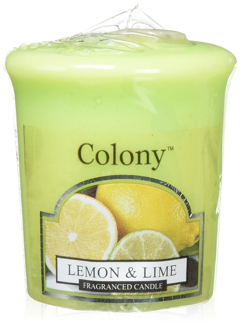 証明書虹教義WAX LYRICAL ENGLAND Colony HomeScents Series センターキャンドル レモン&ライム CNCH0568