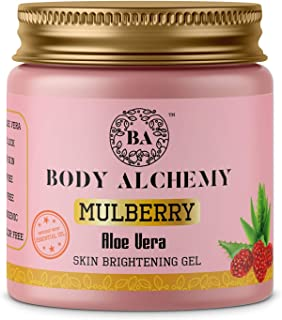 Body Alchemy Mulberry Pure Aloe Vera Multipurpose Gel For Men and Women (Paraben Free/Non Comedogenic), 200g