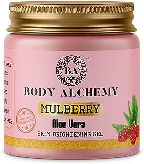 Body Alchemy Mulberry Pure Aloe Vera Multipurpose Gel For Men and Women (Paraben Free/Non Comedogenic), 200g