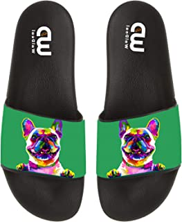French Bulldog in pop Art Summer Slide Slippers for Men Women Kid Indoor Open-Toe Sandal Shoes
