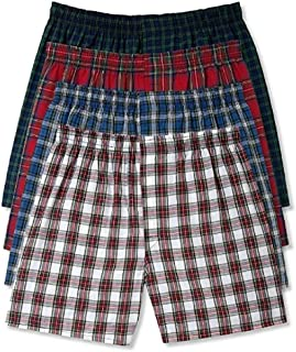 Hanes Men's Tartan Boxers pack of 5 5-pack Tartan Boxer With Inside Exposed Waistban