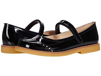 Elephantito Martina Flats (Toddler/Little Kid/Big Kid) (Patent Black 1) Girls Shoes