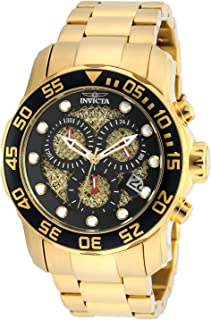 Invicta Mens 19837SYB Pro Diver 18k Gold Ion-Plated Stainless Steel Watch
