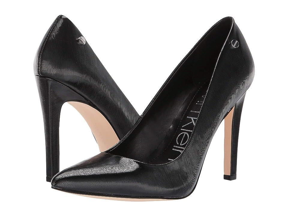 Calvin Klein Brady (Black Liquid Patent Smooth) High Heels