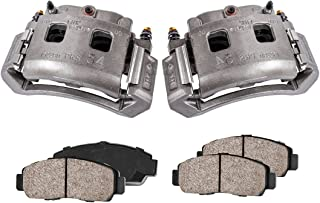 2 FRONT Premium Loaded OE Caliper Assembly Set COEK00462 Quiet Low Dust Ceramic Brake Pads