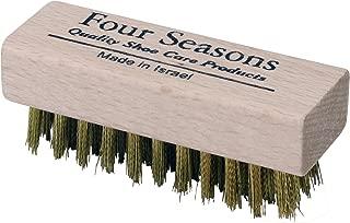 Four Seasons Mini Brass Suede Shoe Brush