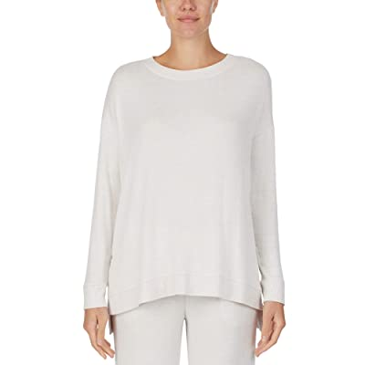 Donna Karan Sweater Knit Sleepwear Top (Tusk) Women