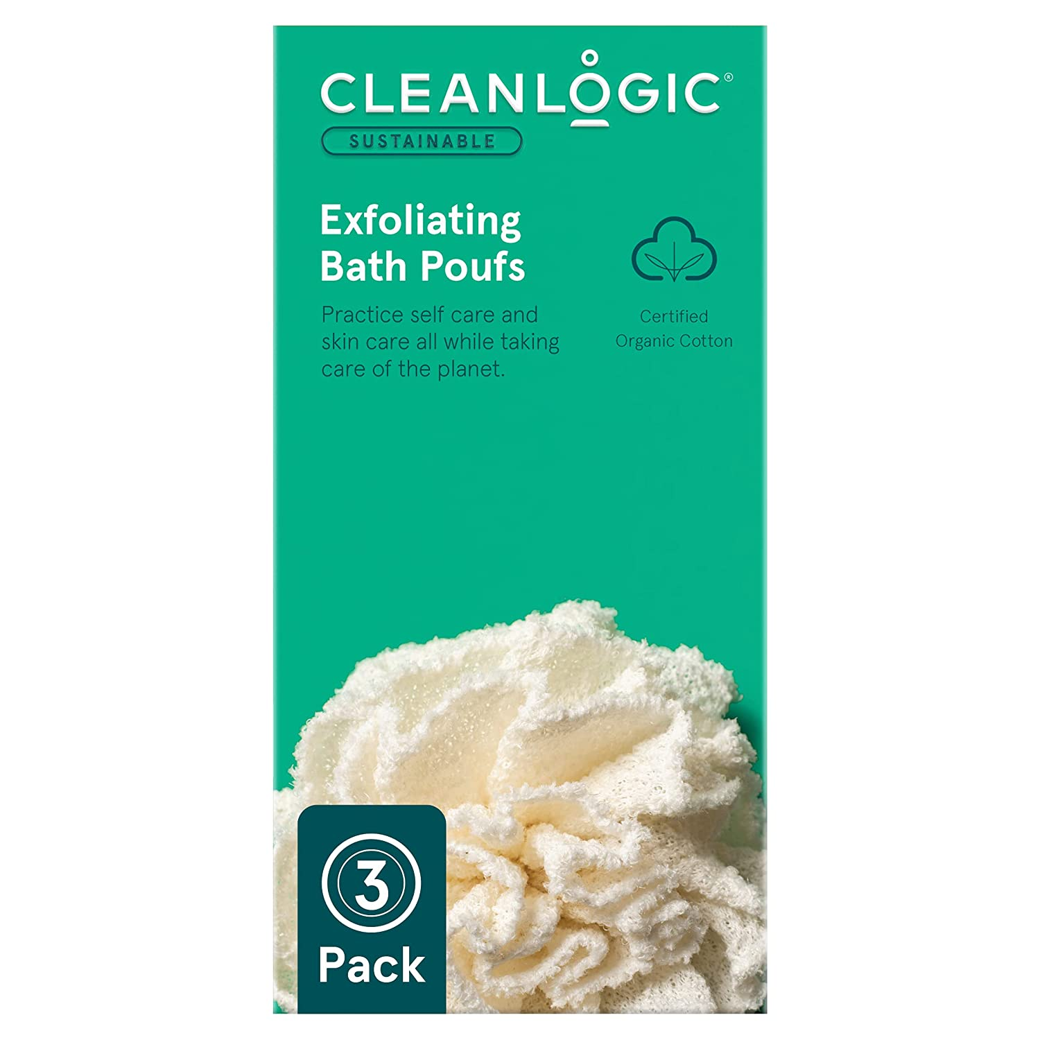 Cleanlogic Sustainable Exfoliating Ranking TOP8 Loofa Pouf Count Spring new work one after another 3