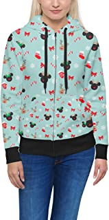 Christmas Mickey /& Minnie Gingerbread Cookies Disney Inspired Men Zip Up Hoodie