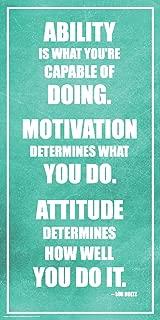 Culturenik Lou Holtz Ability Motivation Attitude Inspirational Motivational Sports Football Coach Icon Quote Print (Unframed 12x24 Poster)