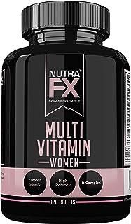 Multivitamin for Women with Vitamin C, Vitamin D, Vitamin E, Zinc for Immune Support - Vegan Women's Multivitamin with Bio...