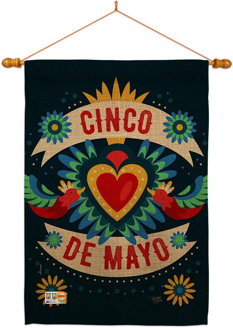 Breeze Decor Cinco 販売 de Mayo Cambaya Flag M Dowel Summer House おすすめ特集 Set