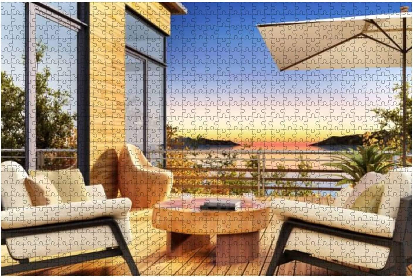 1000 Pieces-View of The sea at Bea Sunset Popular overseas a from In popularity terraces