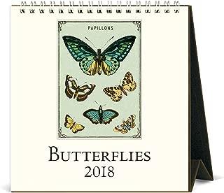 Cavallini Papers & Co. 2018 Butterflies Desk Calendar