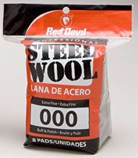 (8 Pads, 000 Extra Fine) - Red Devil 0321 Steel Wool, 000 Extra Fine, 8 Pads