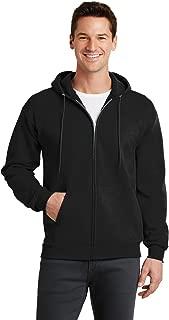 Port & Company Men's Classic Full Zip Hooded Sweatshirt M Jet Black