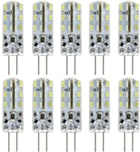 10pcs G4 DC 12V 1.5W 24 SMD 3014 LEDs 105LM 6000K-6500K Energy-Saving LED Bulb Lights Lamps (White)
