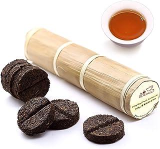 LWXLJMJZC-(80 Cups)Pu-erh Tea in Bamboo Leaf Tube -Ripe Puerh Tea Cake -Shu Puer Tea (7.1 Ounce)