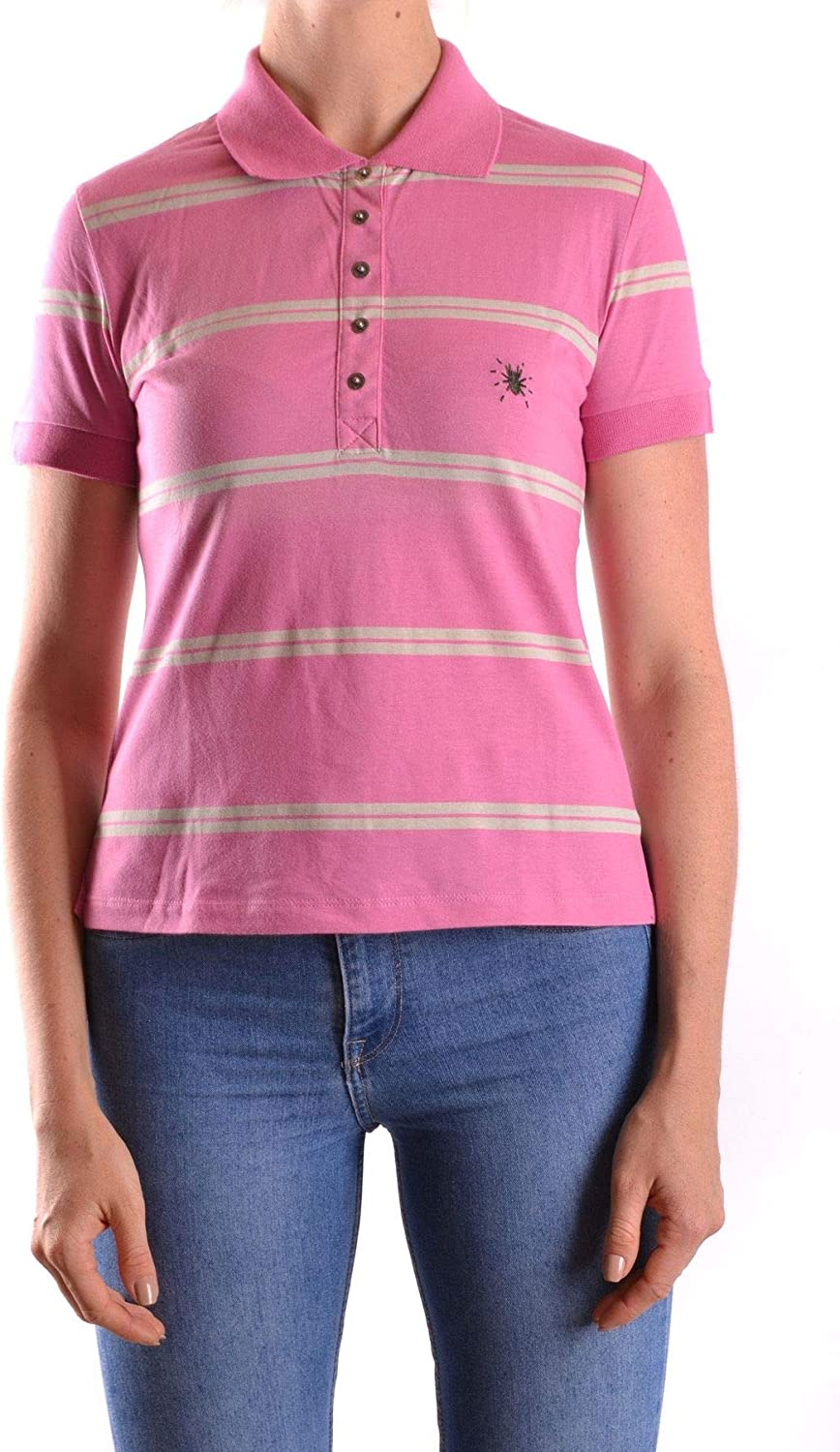 Costume National Women's MCBI25338 Pink Cotton Polo Shirt