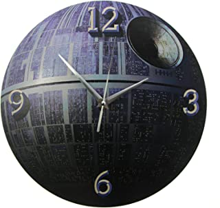 Decorative Wall Clock Death Star Pattern Round 3d Effect Printed Wall Clock Fictional Mobile Space Sations Home Decor Plan...