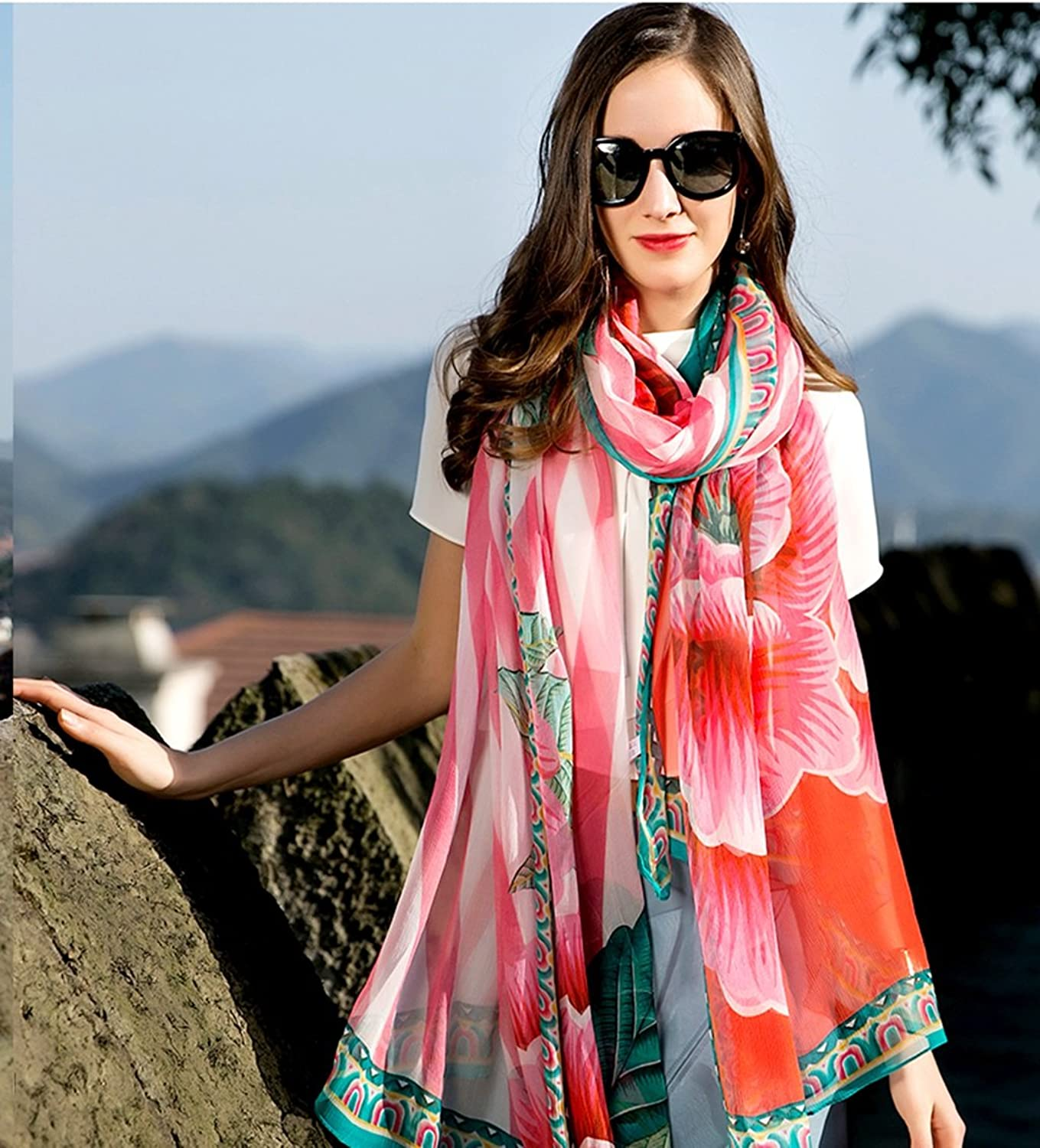 Fashion Scarves Women Accessories Scarves Wraps Scarf Silk Scarf National Wind Summer Female Large Size Long Sunscreen Shawl