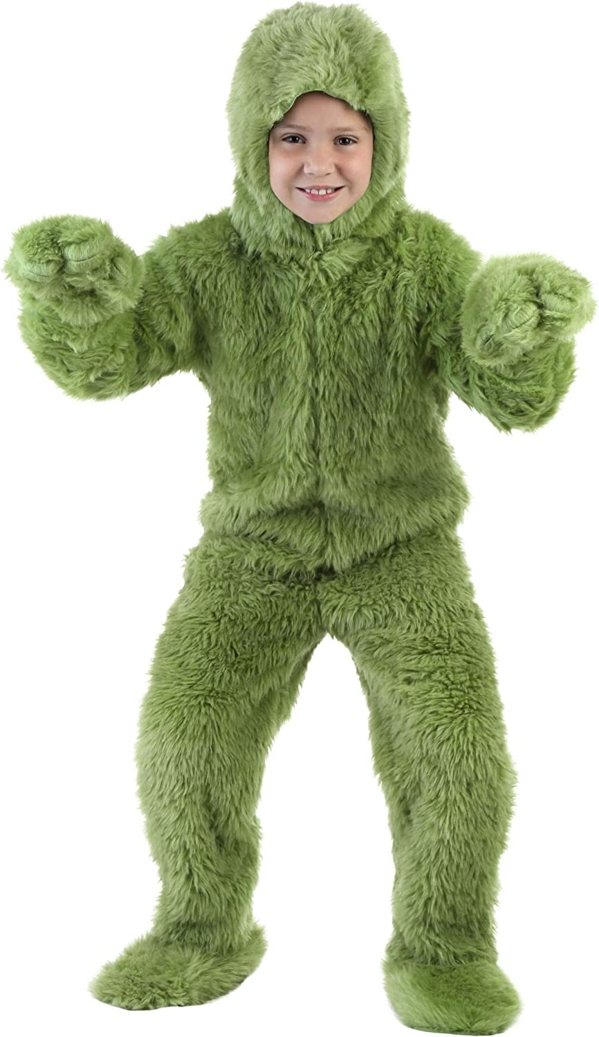Child Furry Green Monster Christmas Costume Onesie Rapid Max 73% OFF rise