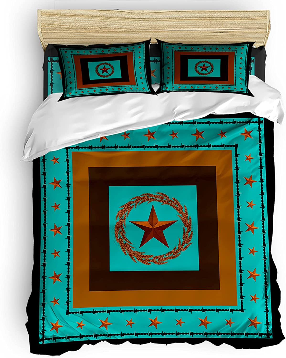 Ultra-Cheap Deals 4 Ranking TOP19 Pieces Bedding Comforter Cover Star wi Sets Western Texas