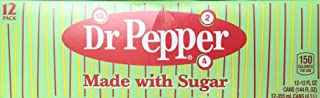 Dr Pepper Made with Imperial Sugar (Not Dublin Dr Pepper) 12 Fl Oz (Pack of 12)