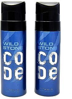 Wild Stone Code Titanium Body Perfume SprayCombo forMen, Pack of 2 (120ml each)