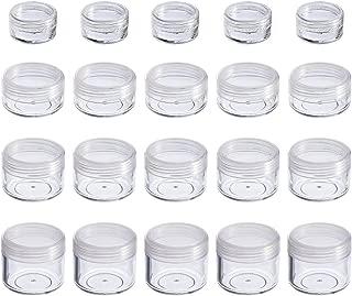 20 Piezas Contenedor de Cosméticos Bote Tarro de Viaje Set con Tapa para Almacenaje de Maquillaje Cremas Muestras, 5, 10, 15 y 20 Gramos