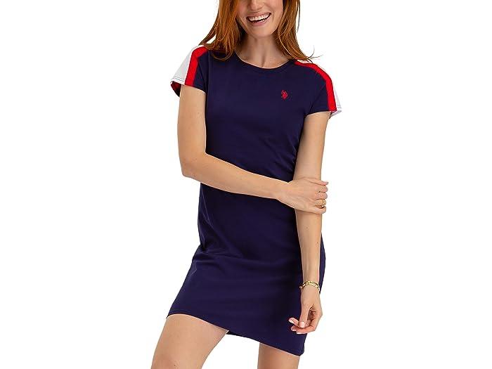 U.S. POLO ASSN. Sleeve Stripe Tee Shirtdress