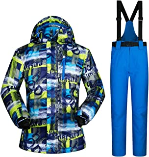 Winter Waterproof Thicken Outdoor Snow Sets Mountain Warm Skiing and Snowboarding Male Ski Jacket Men