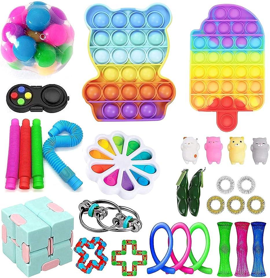 Tik Tok Sinnes Fidget Spielzeug-Satz für Kinder oder Erwachsene Figetget Toys Pack-Hand Spielzeug Stress-Angst Relief Spielzeug Set für ADHS