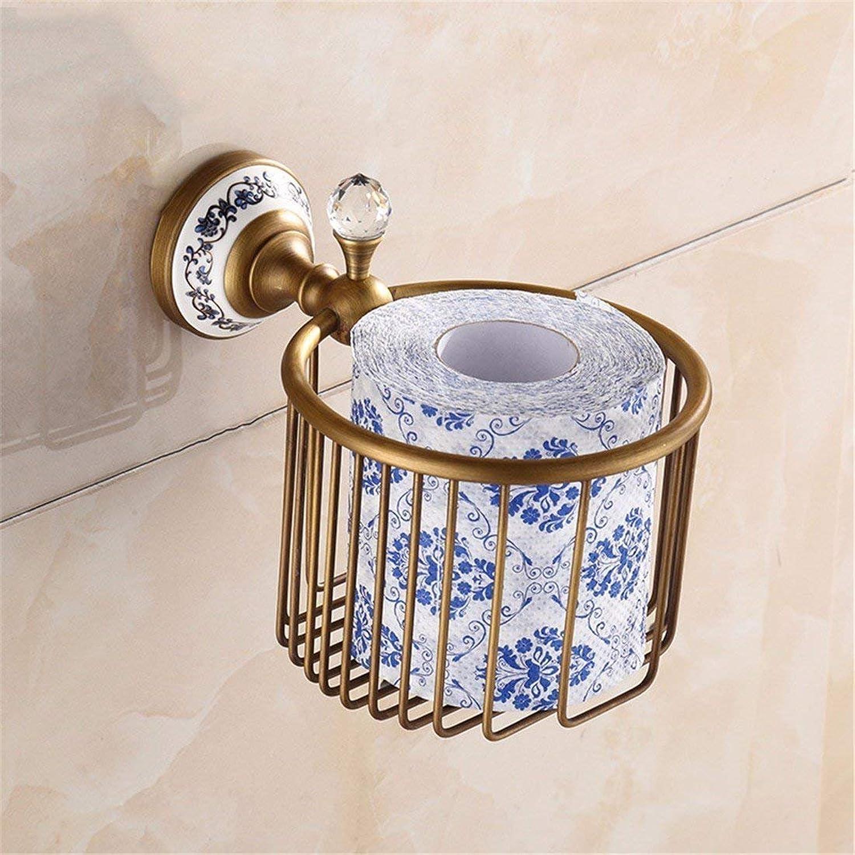 The Belt of Antique Copper Vintage European Flower Drill Green,Porcelain Basket Door-Towels