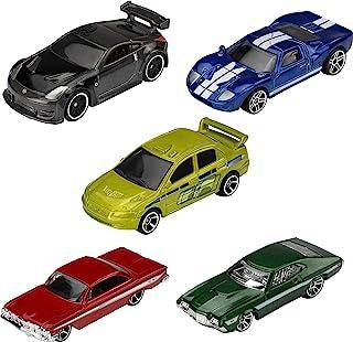 لعبة سيارات هوت ويلز فاست اند فيوريوس من 5 قطع مقاس 1:64 حصرية وقابلة للتجميع لجميع الاعمار