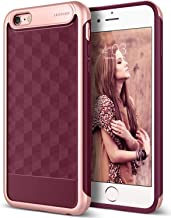 Caseology Parallax for iPhone 6S Plus Case (2015) / iPhone 6 Plus Case (2014) - Award Winning Design - Burgundy
