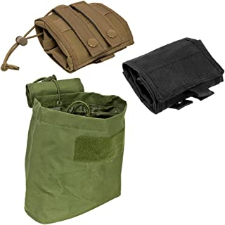 """ATG Tactical Compact Roll-Up Pouch Folding Dump Pouch Magazines Elastic Draw Cord MOLLE PALS Shooting Gear 7.5""""L X 8.5""""H X 3.5""""W"""