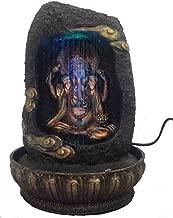 eCraftIndia Lord Ganesha Polystone Water Fountain (23 cm x 23 cm x 30 cm, Brown, WF9846)