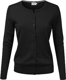 NINEXIS Women's Long Sleeve Button Down Soft Knit Cardigan Sweater
