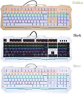 AULA F2009 LED Backlit Professional Blue Axis Mechanical Gaming Keyboard
