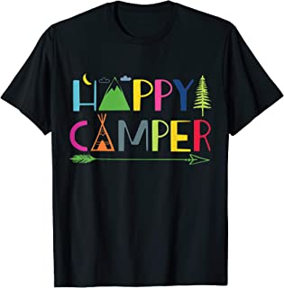 Arrow Camper Happy Camping T-Shirt Gift for Men Women Kids