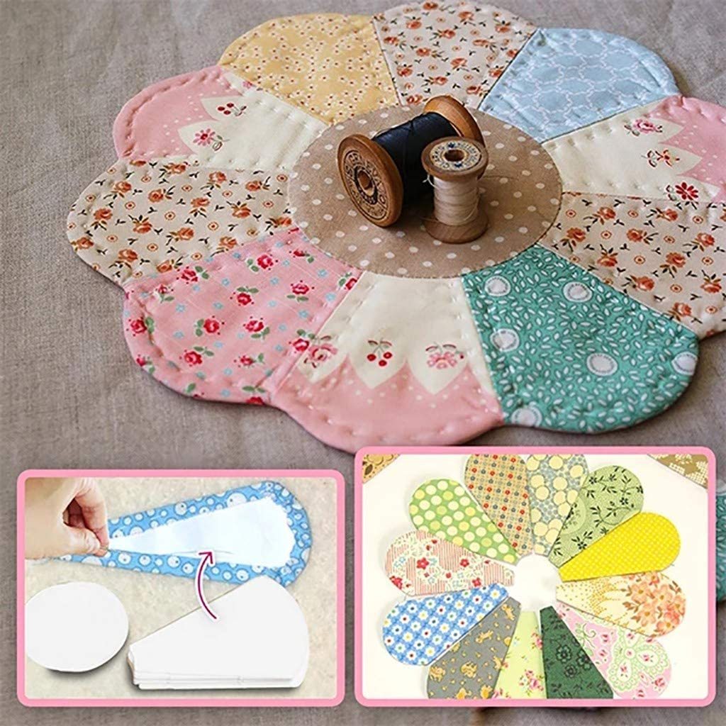 Rapid rise 4Set Paper Piecing Templates -Paper Grandmo Now free shipping Flower Template Kit-