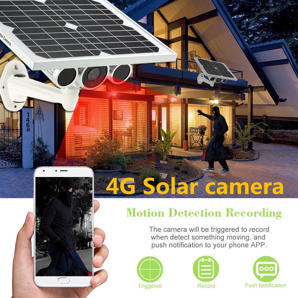 Solar Star Light Nivel 3 G 4 G Tarjeta SIM P2P HD 1080P cámara IP ...