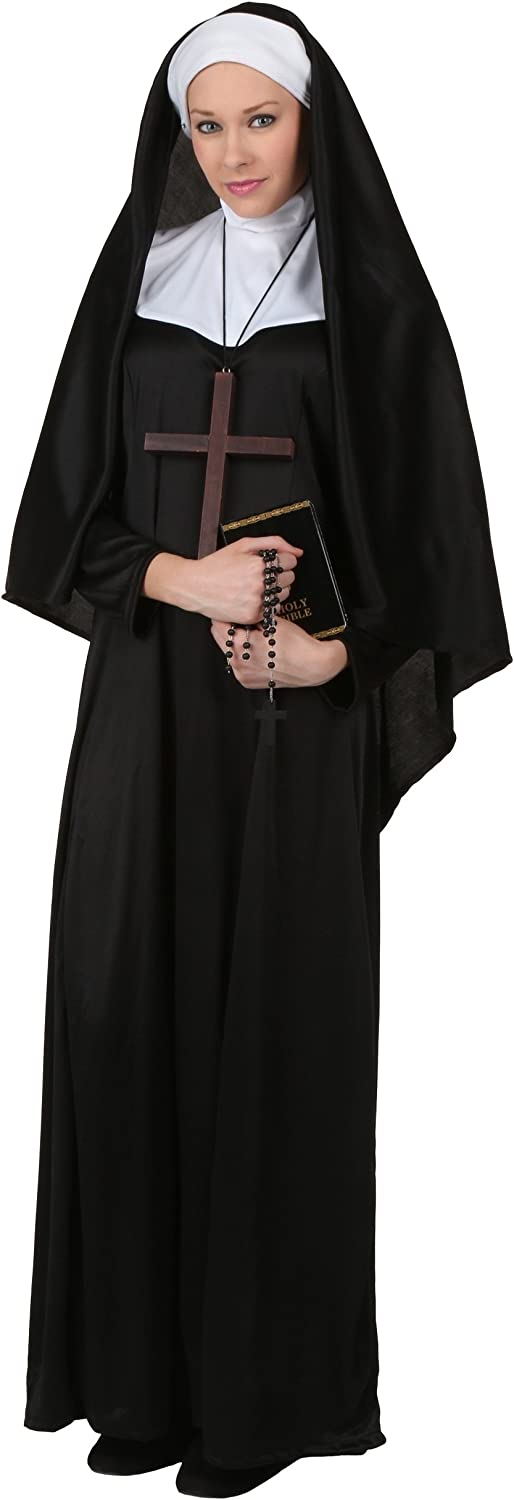 Plus Size Traditional Nun Fancy dress costume 2X