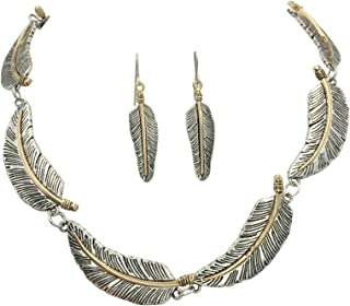 Gypsy Jewels Two-Tone Boutique Style Statement Necklace & Dangle Earring Set