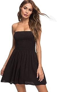 Strapless Tops for Women Tube Top Cotton Summer Beach Dresses