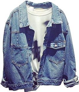 32a3358d06c824 Donna Manica Lunga Casual Giacca Di Jeans Strappato Outerwear Cappotti