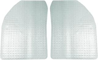 Coverking Front Custom Fit Floor Mats for Select Lotus Esprit Models - Nibbed Vinyl (Clear)