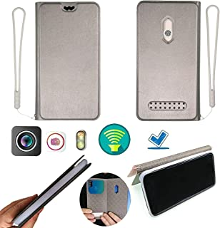 Case for Infinix Zero 5 Zero5 X603 Case Silicone Protection Ring + Flip Cover Stand Shell Silver