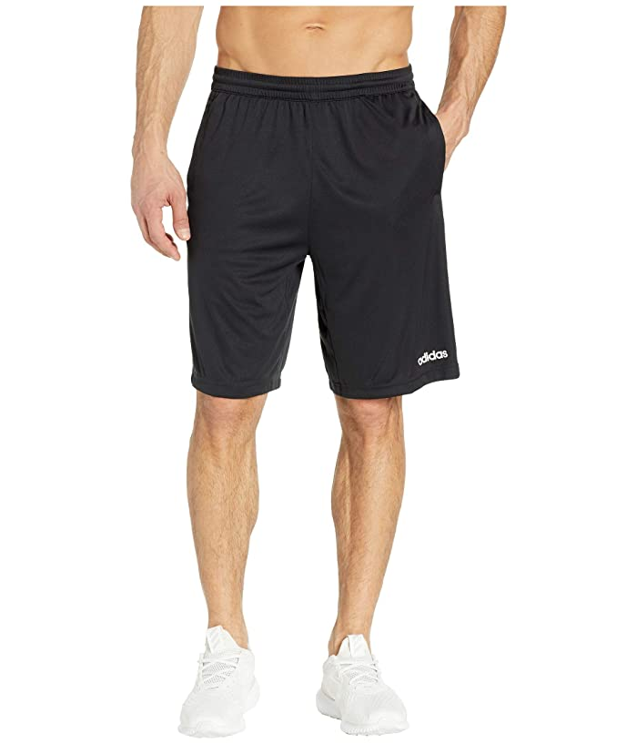 adidas D2M 3-Stripe Shorts (Black/White) Men